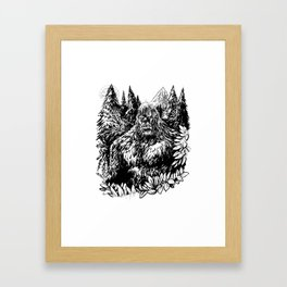 PACIFIC NORTHWEST SASQUATCH Framed Art Print
