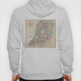 Vintage Map of The Netherlands (1799) Hoody