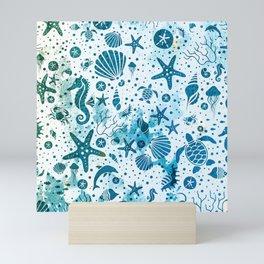 SEALIFE BACKGROUND - LightBlue 15 Mini Art Print