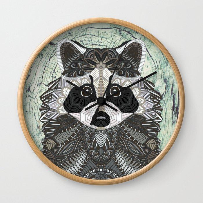 Ornate Raccoon Wall Clock