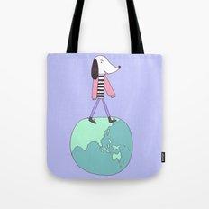Dog globe Tote Bag