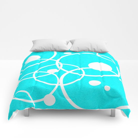 Circles on Blue Comforters
