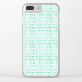 White hen on blue sky Clear iPhone Case