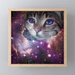 SpaceCat Framed Mini Art Print