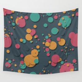 """""""Retro Colorful Polka Dots"""" Wall Tapestry"""