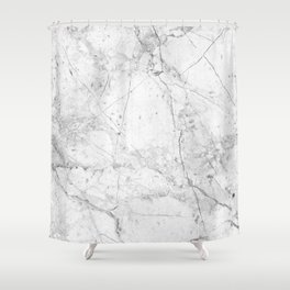 Nordic White Marble Shower Curtain