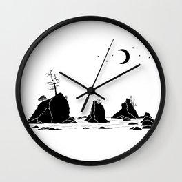 Three Graces Black on white Wall Clock