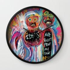 Ideals are bulletproof my dear Street Art Graffiti Wall Clock