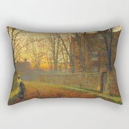 John Atkinson Grimshaw - Late October - Victorian Retro Vintage Painting Rectangular Pillow