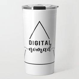 digital nomad triangle Travel Mug