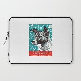 1950s Laika Space Dog Russian Matchbox Label Laptop Sleeve