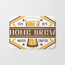 D20 Home Brew Content Creator Beer Label Bath Mat