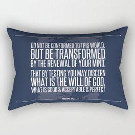 Romans 12:2 Rectangular Pillow