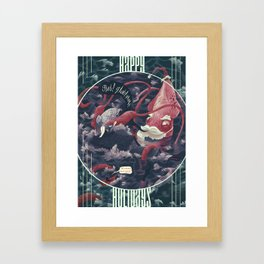 Christmas Squid Framed Art Print