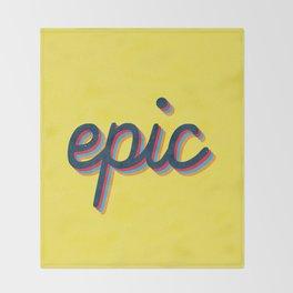 Epic - yellow version Throw Blanket