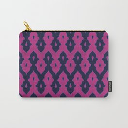 Mauresque Counterchange (Hot Pink - Navy) Carry-All Pouch