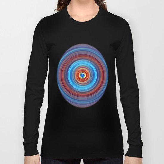 Vivid Blue and Orange Swirl Long Sleeve T-shirt