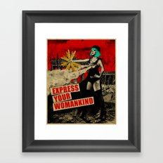 Express Your Womankind Framed Art Print