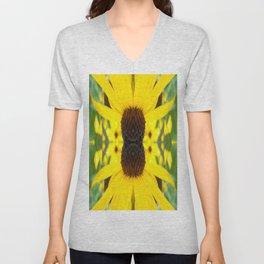 Trippy Sunflower Unisex V-Neck