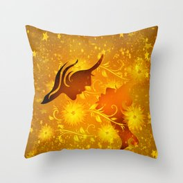 Golden In Love Throw Pillow