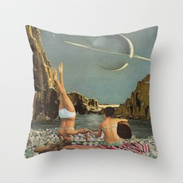 Serenade to Saturn Throw Pillow