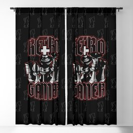 Chess Retro Gamer Blackout Curtain