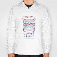 street Hoodies featuring Street burger  by SpazioC