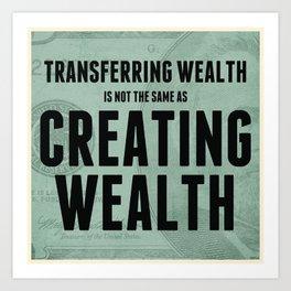 Creating Wealth Art Print