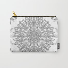 Silver Mandala Carry-All Pouch
