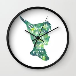 Peter Pan Pixie Dust Wall Clock