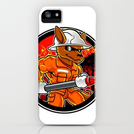 kangaroo firefighter extinguishes fire in forest iPhone Case