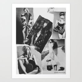 Mixed Media Fashion Collage  Art Print