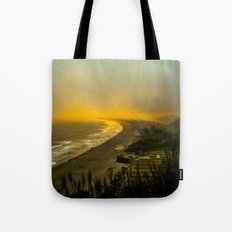 The evening as seen from the bluff  Tote Bag
