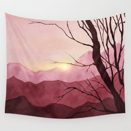 Sunset & landscape Wall Tapestry