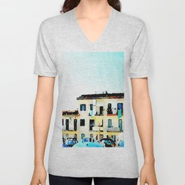 Buildings of Agropoli Unisex V-Neck