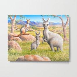 Kangaroo, Wallaby and Joeys Metal Print