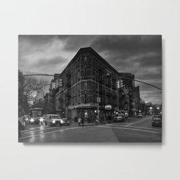 New York City - Greenwich Village 011 BW Metal Print