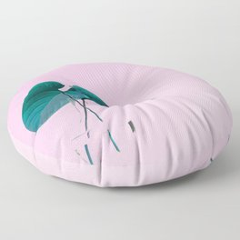 Pink Plant Floor Pillow
