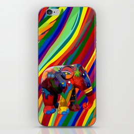 Full Color Abstract Elephant iPhone Skin