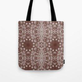 brown Mandala Tote Bag