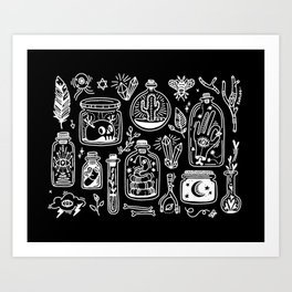 The Tiny Witch Gallery - Reverse Art Print