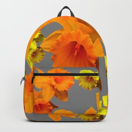YELLOW-GOLD SPRING DAFFODILS & CHARCOAL GREY COLOR Backpack