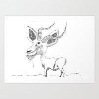 tame impala Art Prints featuring Impala! by Knöd