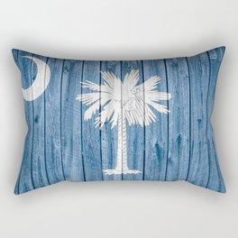 South Carolina State Flag Barn Wall Print Rectangular Pillow