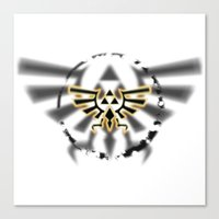 triforce Canvas Prints featuring Triforce by Otis Zanzibar