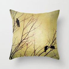 Golden Dusk Throw Pillow