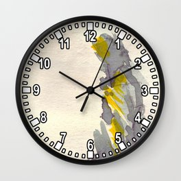 Yellow to Grey Wall Clock