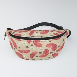 Citrus fruit and flowers with stars Fanny Pack