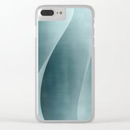 Double Wave Clear iPhone Case