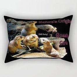 Nature's Original Gossip Girls Rectangular Pillow